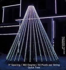 quicktreeâ pixel megatree 9 5 ft 9 ft wide 180 degrees