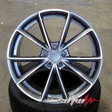 audi rs6 wheels 19 19 s line style wheels tires gunmetal rims fits audi rs5 rs6 a4