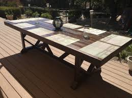 large outdoor dining table diy large outdoor dining table shanty 2 chic