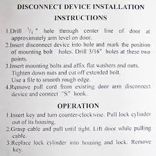 Commercial Overhead Door Installation Instructions by Garage Door Opener Release