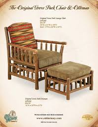 Comfortable Chair And Ottoman Hickory Furniture Co Original Grove Park Chair And Ottoman