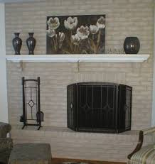 paint brick fireplace before after cool ideas paint brick