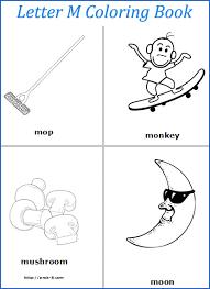 m worksheets for preschool