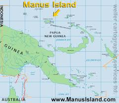 location of australia on world map maps showing manus island position within papua new guinea and
