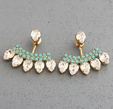 jacket earrings best 25 ear jacket earrings ideas on ear jacket