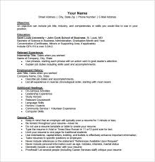 Business Resume Examples by Download Business Resume Template Haadyaooverbayresort Com
