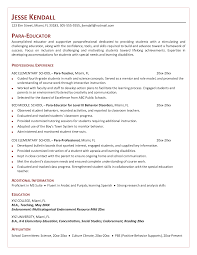Resume Miami Special Education Paraprofessional Resume Resume For Your Job
