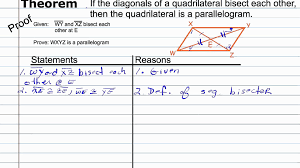 proving a quadrilateral a parallelogram geometry proof how to