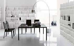 white simple desk home office free bright nuance and outstanding bookshelves and