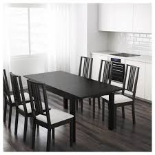 Black White Dining Table Chairs Black Dining Table Ikea Dining Room Ideas