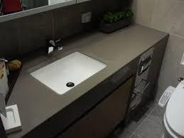 Gray Quartz Bathroom Counter  Kitchen Trends  Clean And - Quartz bathroom countertops with sinks