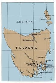 map of tasmania australia map of gould s journey tasmania australian museum