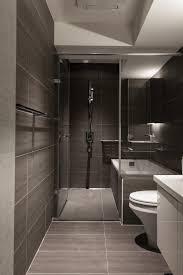 A Minimalist Bathroom Uses A Soothing Soya Bean Colored Large Wall - Minimalist bathroom design