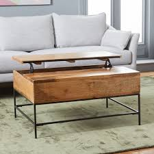 coffee table for long couch industrial storage pop up coffee table west elm