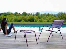 Contract Outdoor Furniture Contemporary Footrest Steel Garden Contract Monceau Fermob