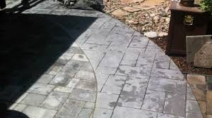Covering Old Concrete Patio by Installing Pavers Next To Concrete Paver Patio Youtube