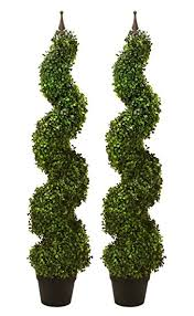 two pre potted 47 artificial outdoor indoor spiral