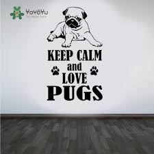 popular dog wall decals buy cheap lots from china pug dog wall decal