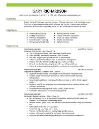 Best Resume Objectives Samples by Warehouse Resume Objective Samples Template Design