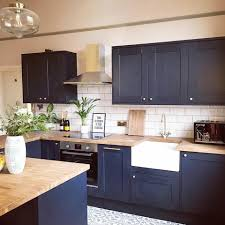 navy blue kitchen cabinets howdens howdens make a style statement like
