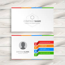 white business card template vector free