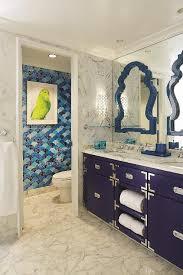 navy blue campaign bathroom vanity contemporary bathroom