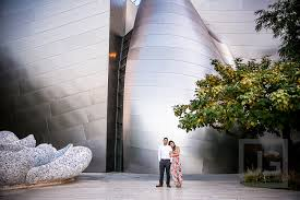 wedding arches los angeles downtown los angeles engagement photography water