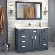 single sink vanity with drawers calais 48 pepper gray vanity by studio bathe