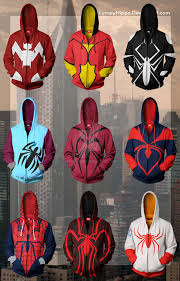 spiderman hoodies 3 spider woman hoodies 1 by lumpyhippo