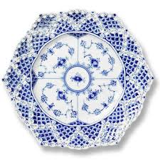 royal copenhagen blue fluted lace cake plate 8 25 inches