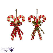 gisela graham tin double candy cane bow berries christmas xmas