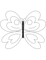 simple butterfly coloring page free printable coloring pages