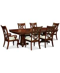 bordeaux double pedestal 7 pc dining set dining table 4 side
