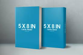 5 x 8 front u0026 back cover paperback mockup covervault