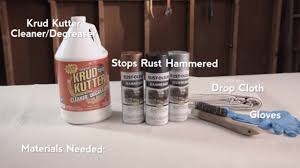 how to paint over rust with rust oleum hammered spray paint youtube