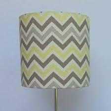 Yellow Floor Lamp Shade Handmade Lamp Shade Color Gray And Yellow Chevron Size 7