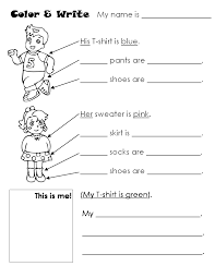 kindergarten worksheets colors shapes seasons clothes