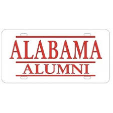of alabama alumni car tag customize alabama crimson tide license plates by auto plates