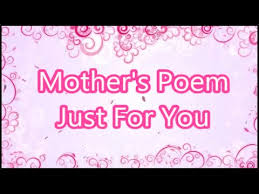 mother u0027s poem share this with your own mum mom thanking her with