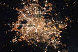 World At Night Map by Houston Texas At Night Image Of The Day