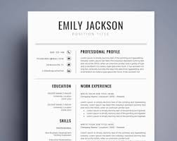 resume templates word resume template word etsy