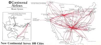 Air France Route Map by Continental Airlines Timetables Route Maps And History