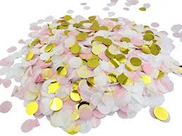 pink white gold wedding 1 inch circle confetti 10 000 pieces pink white gold 100