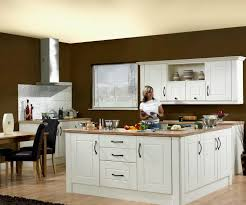 suprising colourful kitchen design with yellow floor and elegant
