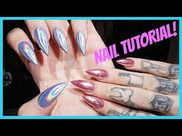 chrome u0026 holographic nails step by step tutorial jeffree star