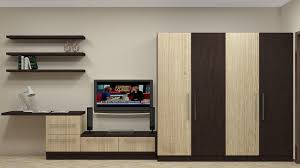 modular wardrobe design for indian bedroom having 4 door along