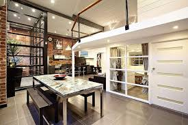 dining u0026 living space warehouse conversion in abbotsford