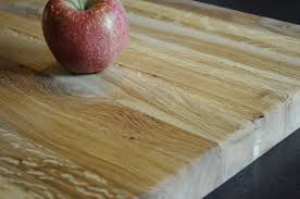 image of butcher block dining room table with white atmosphere