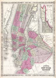 New York City Street Map by File 1866 Johnson Map Of New York City And Brooklyn Geographicus