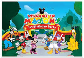mickey mouse clubhouse party mickey mouse clubhouse birthday banner personalized